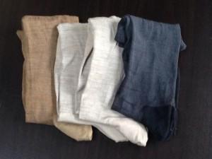 シルクの靴下